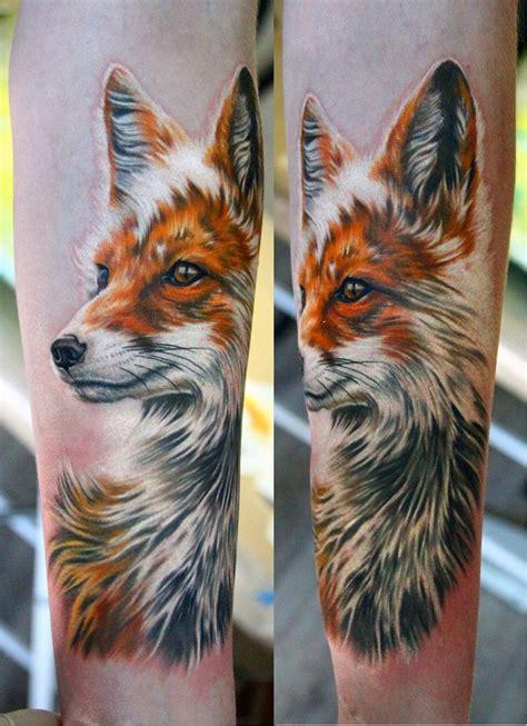 realistic face fox tattoo tattoomagz tattoo designs