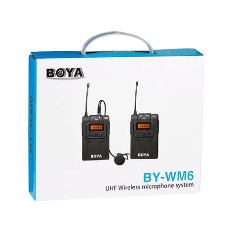 Boya By Wm6 Uhf Hitam boya by wm6 micro cravate sans fil uhf