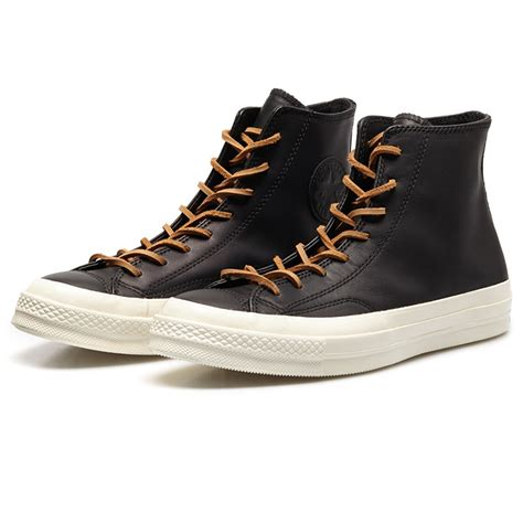 black high top sneakers converse chuck black leather high top sneakers in