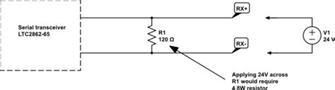 rs485 terminating resistor theory termination alternative to high watt resistor terminating resistor electrical engineering