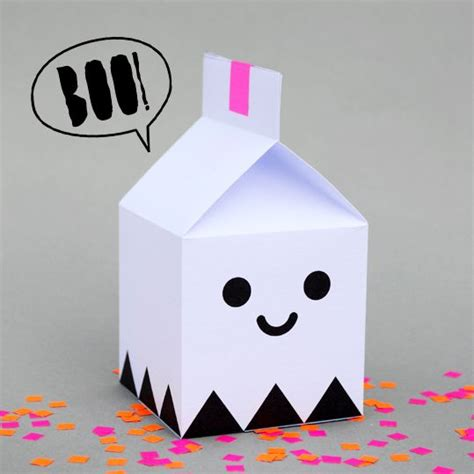 treat boxes templates ghost treat box printable by minieco featured at
