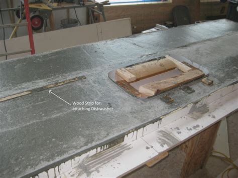 How To Form Concrete Countertops by Concrete Countertop Mix