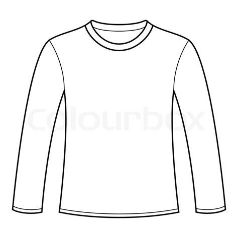 long sleeved t shirt template stock vector colourbox