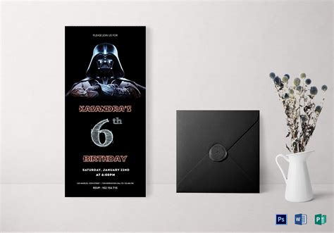 wars card template robot wars birthday invitation card design template