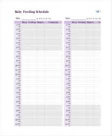 Baby Calendar Template by Baby Feeding Schedule 9 Free Word Pdf Psd Documents