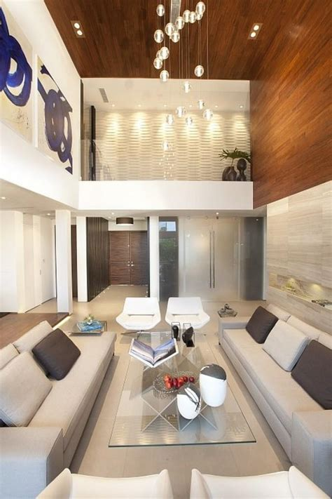 25 Aesthetically Advanced Living Room Designs With High High Ceiling Living Room Designs