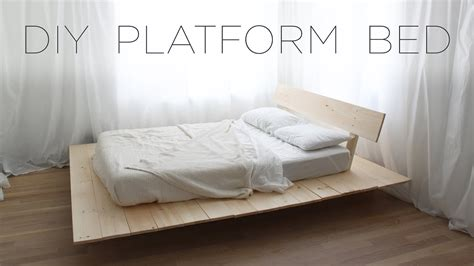 Diy Bed Frame Cheap by Diy Platform Bed Modern Diy Furniture Projects From