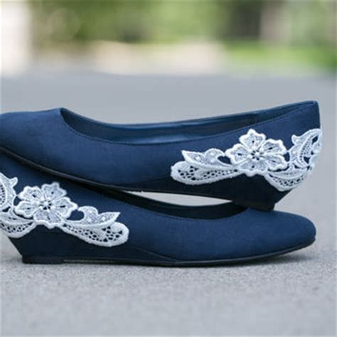 navy blue flat wedding shoes wedding shoes navy blue ballet flat low from walkinonair on