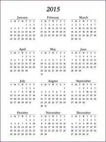 one page calendar template 2015 2015 calendar one page cvsleform