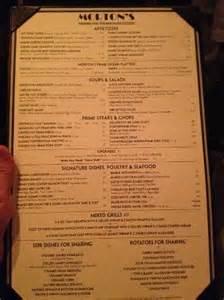 S Steakhouse Menu Tonight S Menu Picture Of Morton S The Steakhouse
