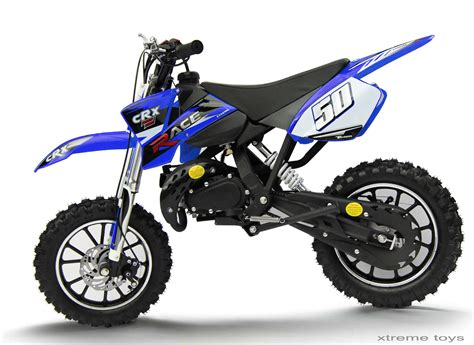 blue motocross crx 50cc mini dirt bike in blue dirt bikes xtreme toys