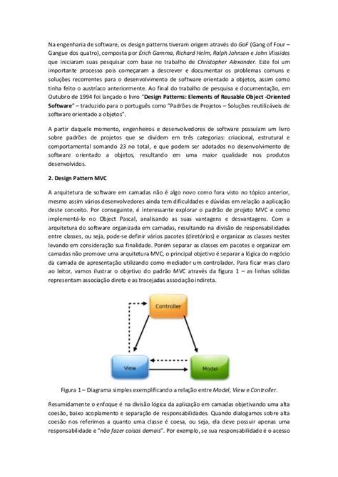 software design pattern mvc design pattern mvc arquitetura de software coesa e flex 237 vel