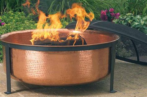 Copper Firepits Cobraco Hammered Copper Pit Sh101 Screen Cover Outdoor Fireplace New Ebay
