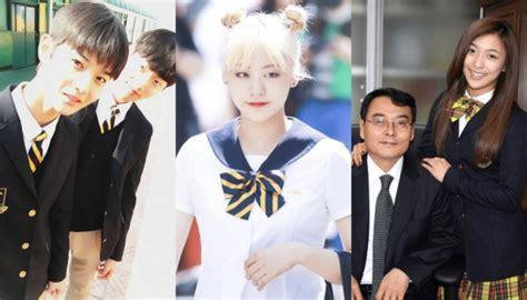 Kemeja Astro Merah 4 seragam sma korea selatan ini terkenal karena dipakai