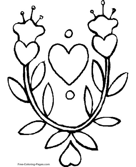 coloring pages of flowers for s day flower coloring sheets flower 03