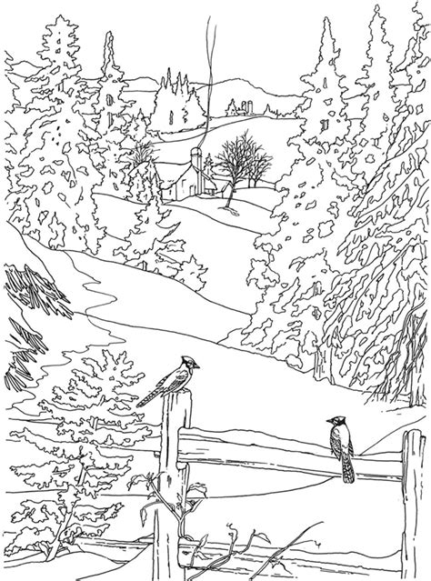 country scenes free coloring pages