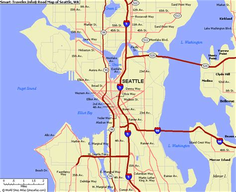 map of seattle area map of seattle washington vacations travel map