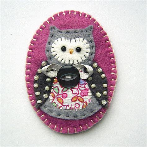 Folksy Handmade - folksy felt owl brooch craftjuice handmade social network