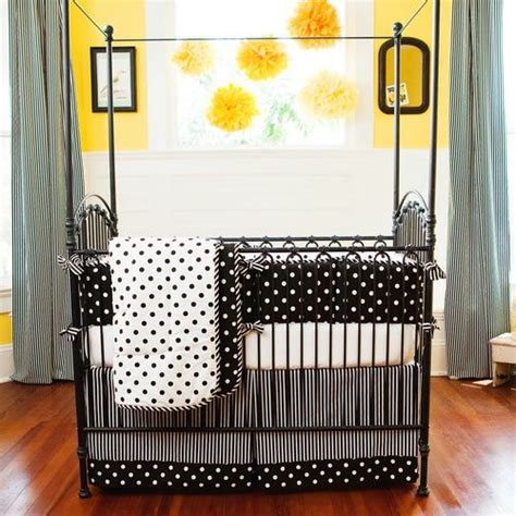 Black And Yellow Crib Bedding by 1000 Images About Black And White Baby Nursery Ideas On