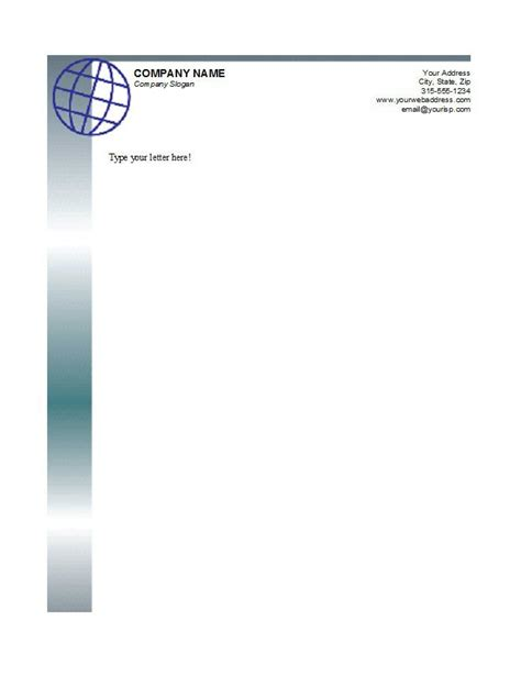 six free letterhead templates for microsoft word business or