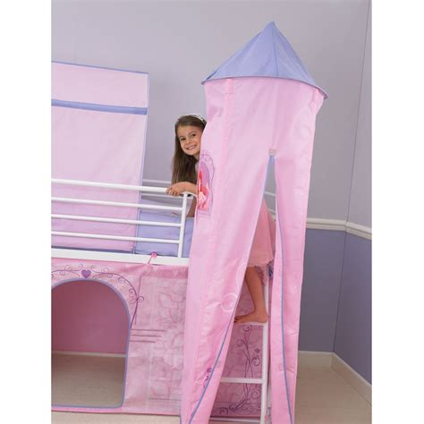 Princess Mid Sleeper Bed by Disney Princess Mid Sleeper Cabin Bed Tent Free P P Ebay
