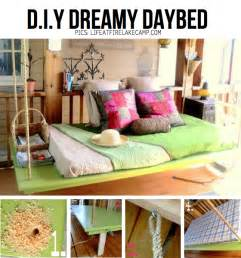 Diy Dreamy Daybed Put Your Stuff Up In The Air Hanging Diy Ideas Tutorials