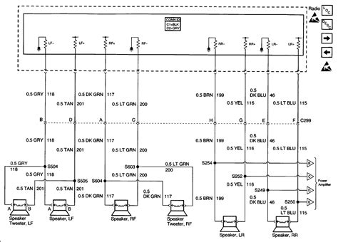 need radio wiring diagram for 2000 cadillac escalade with