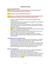 Rule Of Three Outline by Hearsay Outline Hearsay Outline Rule 801 Definitions 801 A Statement 1 An Or Written