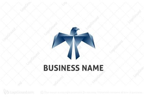 origami eagle logo