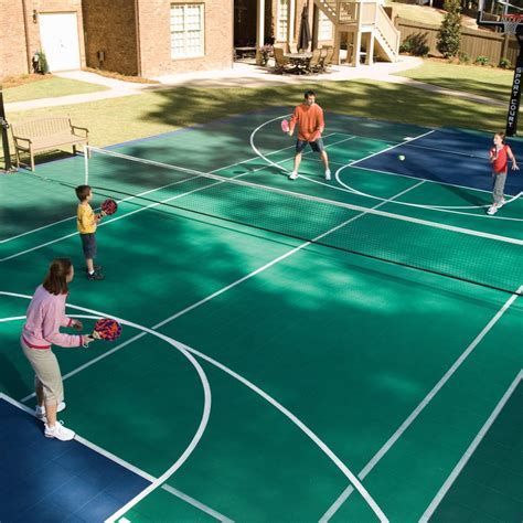 backyard tennis game backyard basketball courts and home gyms sport court