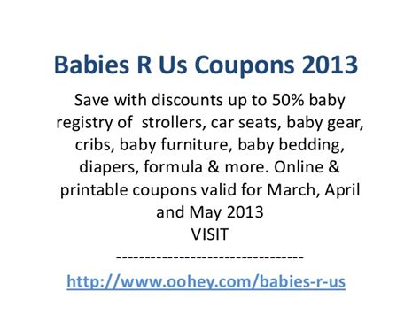 babies r us coupons code march 2013 april 2013 may 2013