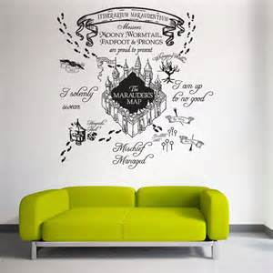 the marauder s map harry potter v1 vinyl wall art decal harry potter wall decal quote happiness can be by