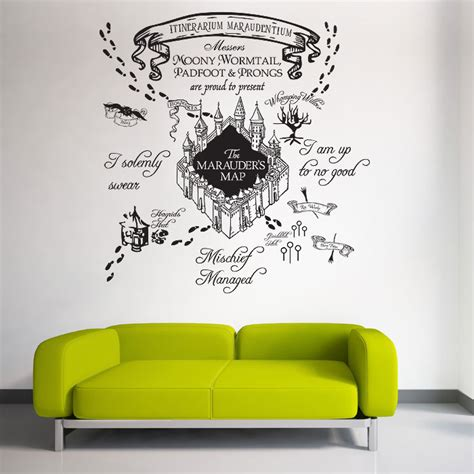 harry potter wall stickers the marauder s map harry potter v1 vinyl wall decal