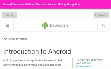view android browser history android how to navigate webview back forward history