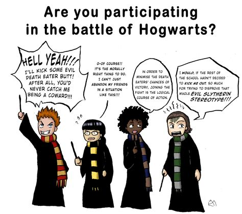 characteristics of harry potter houses the houses during the battle of hogwarts by hikarimichi on