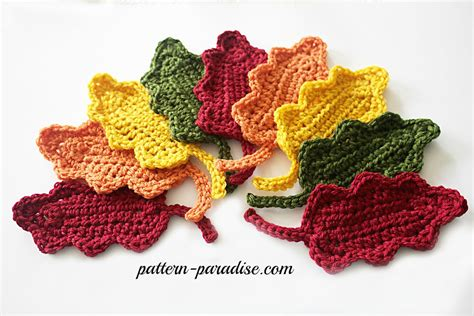 Cool Kitchen Stuff free crochet pattern fall oak leaves pattern paradise