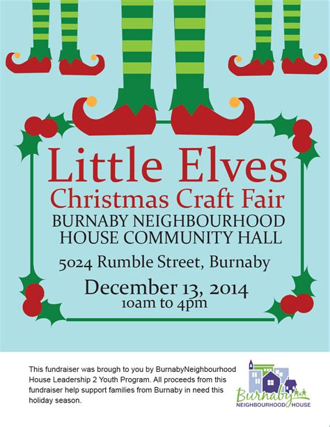 burnaby neighbourhood house little elves christmas craft