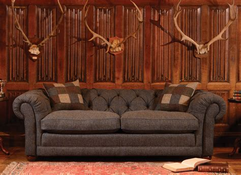 tweed chesterfield sofa chesterfield buttoned tetrad furniture harris