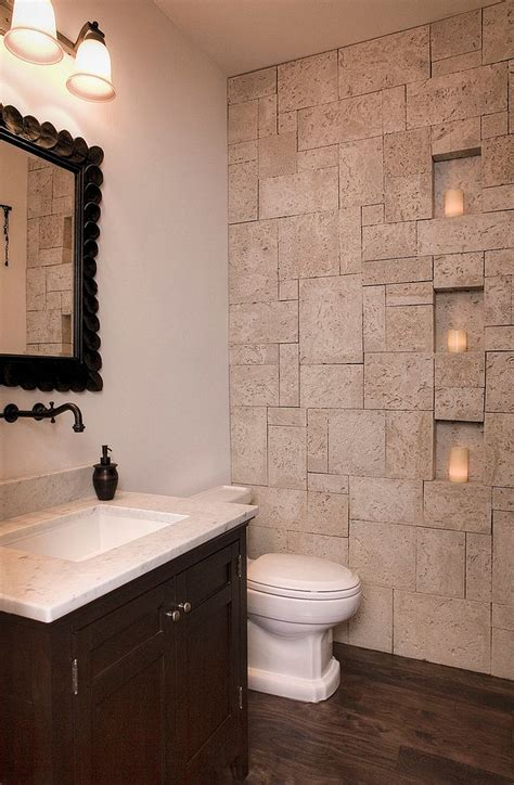 30 Exquisite And Inspired Bathrooms With Stone Walls Bathroom Wall Ideas
