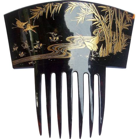 how to comb asian hair japanese export hair comb pre ban tortoiseshell gold