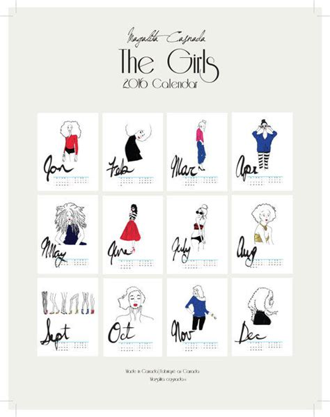 printable daily wall calendar printable the girls white daily from kimaanidesign on etsy