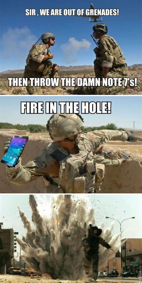 Fire In The Hole Meme - 10 of the funniest reactions to the exploding samsung