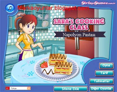 sara ile napolyon pastası yapma oyunu oyna marka oyunlar