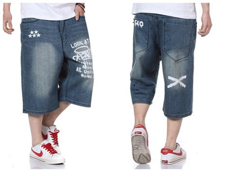 105 Baggy Size 27 30 2015 brand hip hop harem baggy summer denim shorts skate denim shorts for