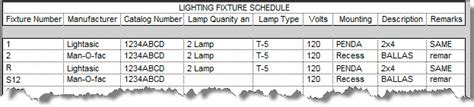 Cad Shack Revit Mep How To Create A Lighting Fixture Schedule Lighting Schedule Template