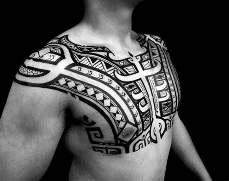 african tribal chest tattoos 80 tribal shoulder tattoos for masculine design ideas
