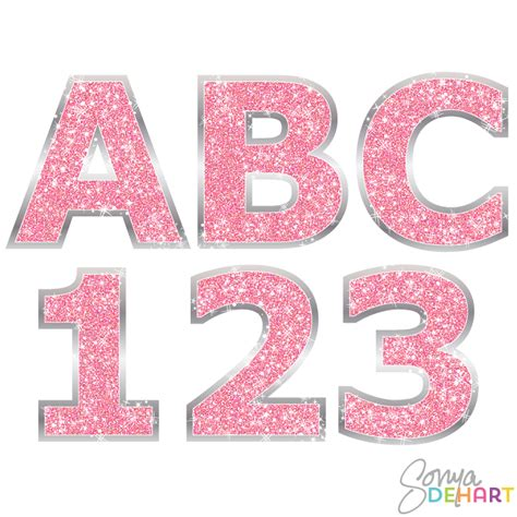 Alphabet Glitter Candle Pink N glitter letters clip 62