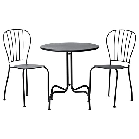 L 196 Ck 214 Table 2 Chairs Outdoor Grey Ikea Patio Table And 2 Chairs