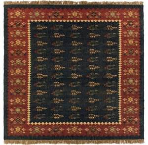 Rustic Area Rugs Southwestern Lodge Hacienda Square 8 Square Charcoal Area Rug Rustic Rugs By Rugpal