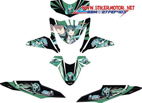 Striping Motor Honda Beat Fi Sonic 1 striping motor honda beat fi hatsune miku stikermotor net stikermotor net